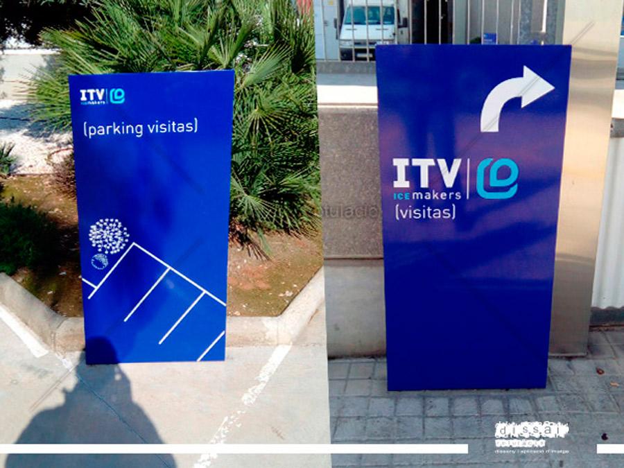 PARKING ITV. Señalética exterior