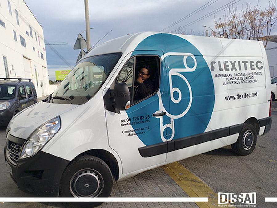 """""""FLEXITEC"""" Rotulación  de vehículo industrial"""