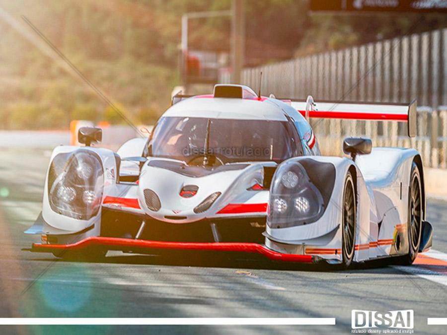 TEAM VIRAGE: Rotulación integral de vehículo de competición