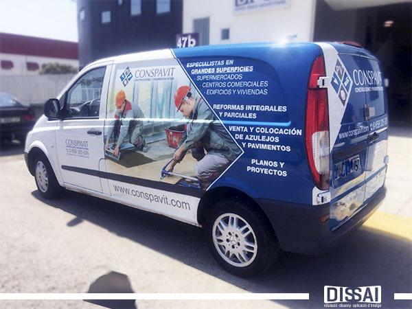 rotulación furgonetas Dissai