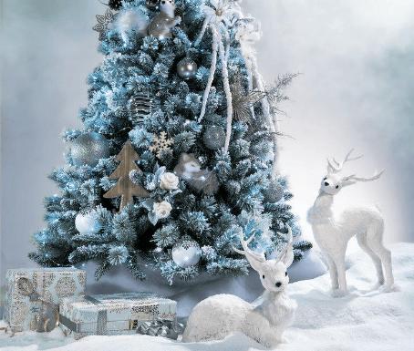 árbol navidad con nieve artificial