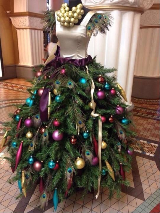 arbol navidad maniquí