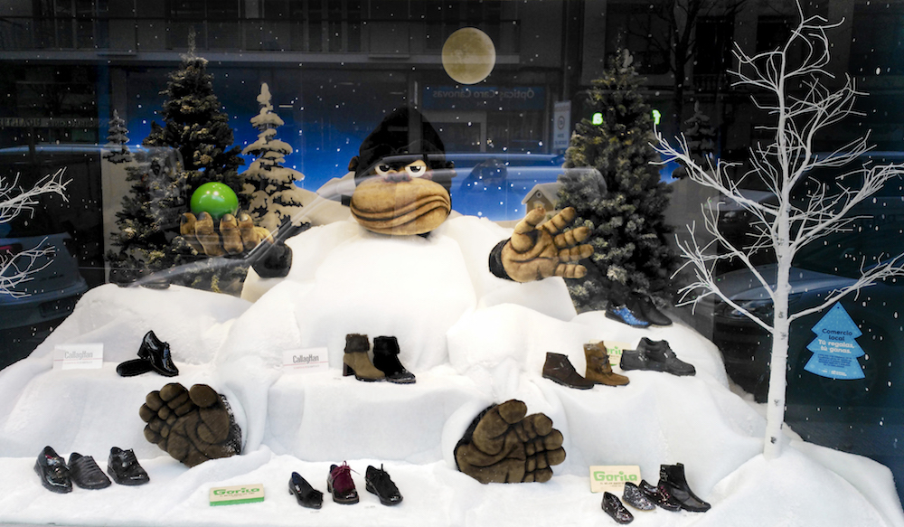 escaparate navideño nieve