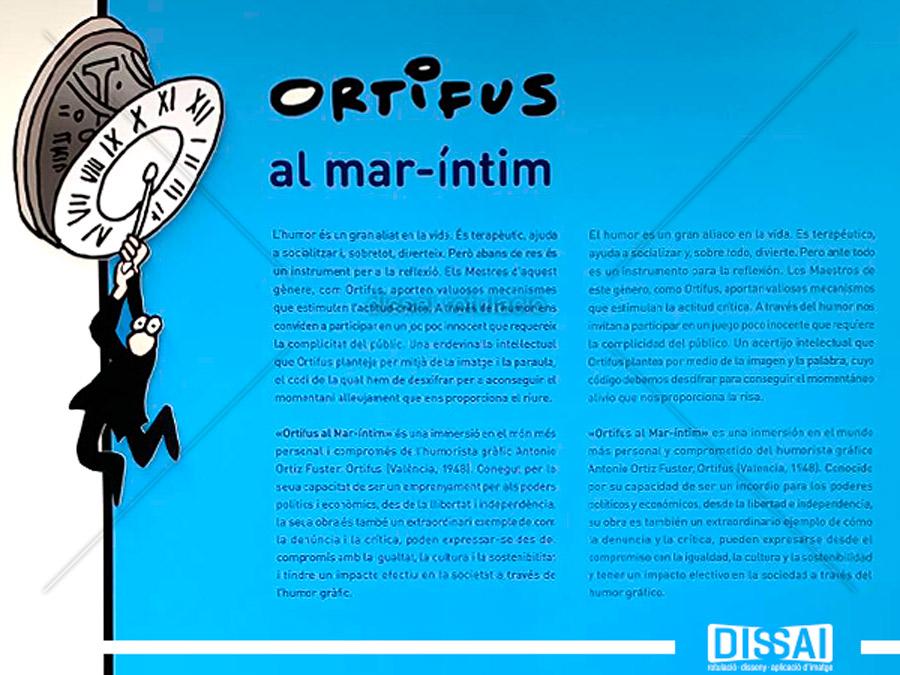 Montaje expositivo: ORTIFUS, al mar-íntim