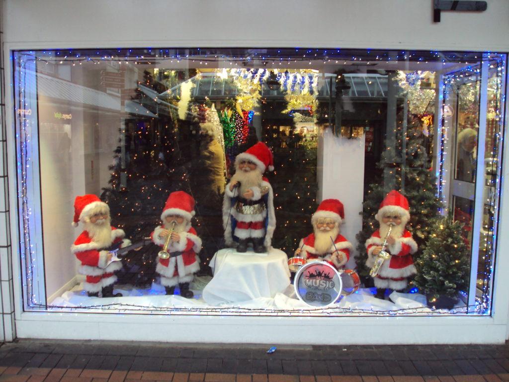 tienda de música escaparate navidad